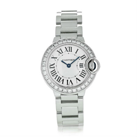 Cartier Ballon Bleu 28mm 3008 18K White Gold Women's Watch