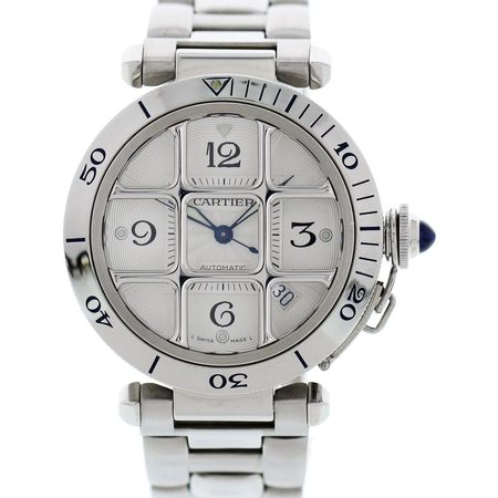 Cartier Pasha 38mm 2379 Stainless Steel Men's Watch