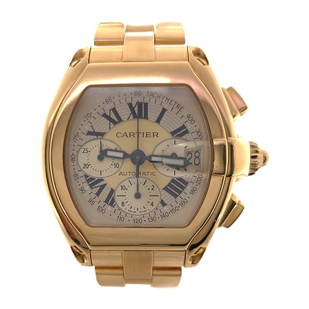 Cartier Roadster Chronograph 48mm W62021Y2 2619 18K Yellow Gold Men's Watch
