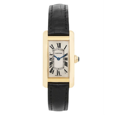 Cartier Tank Americaine 19mmx35mm 2482 18K Yellow Gold Women's Watch