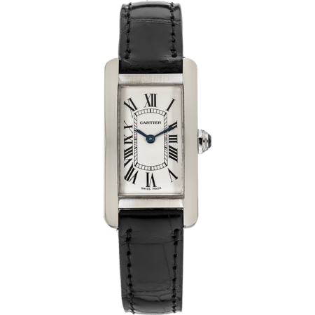 Cartier Tank Americane 28mmx19mm W2601956 18K White Gold Women's Watch