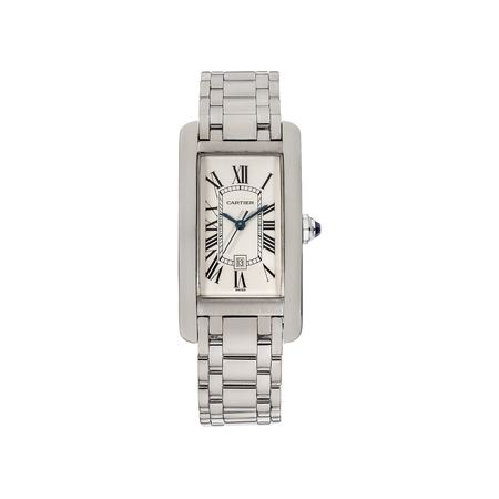 Cartier Tank Americane 23.0x41.0mm. W26036l1 18K White Gold Unisex Watch