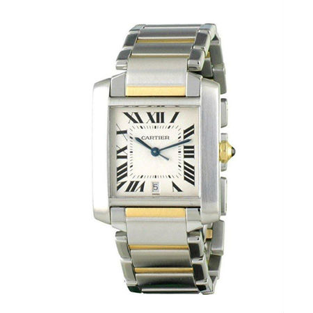 Cartier Tank Francaise 27mmx34mm 2302 18K Yellow Gold/Stainless Steel Unisex Watch