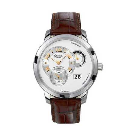 Glashutte PanoMatic Reserve 42mm  Stainless Steel Ref:90-03-31-14-05 Men's Watch