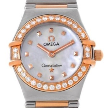 Omega Constellation 22.5MM 1368.71.00 18K Rose Gold/Stainless Steel Women's Watch