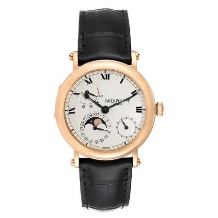 Patek Philippe Complications Power Reserve Moonphase 36mm 5054R-001 18K Yellow Gold Men's Watch