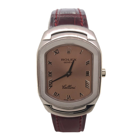 Rolex Cellini 25mmx35mm 6631 18K White Gold Men's Watch