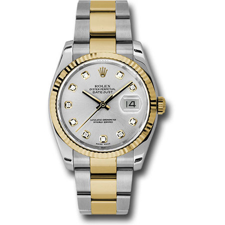 Rolex Datejust 36mm 116233 18K Yellow Gold Men's Watch