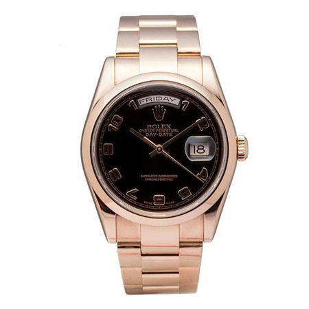 Rolex Datejust 36mm 118205 18K Rose Gold Unisex Watch