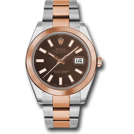 Rolex DateJust 41mm 126301 18K Rose Gold/Stainless Steel Men's Watch