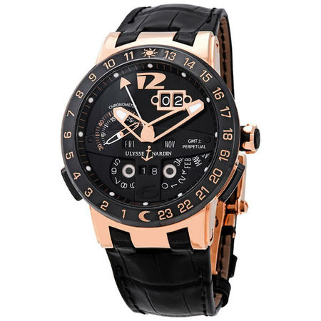 Ulysse Nardin El Toro GMT 43mm 326-.03 18K Rose Gold Men's Watch