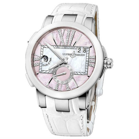 Ulysse Nardin Executive Dual Time 40mm 243-10-397 Stainless Steel Women's Watch