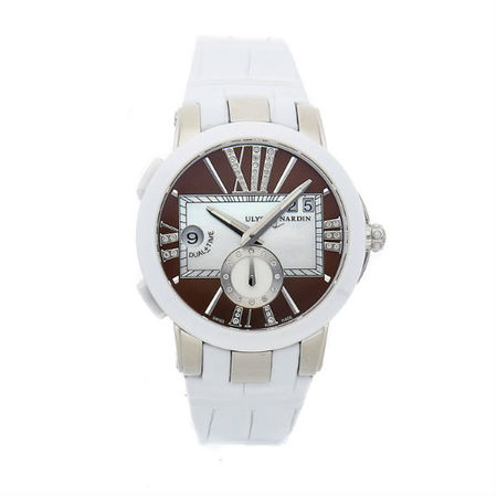 Ulysse Nardin Executive Dual Time 40mm 243-10/30-05 Stainless Steel Women's Watch