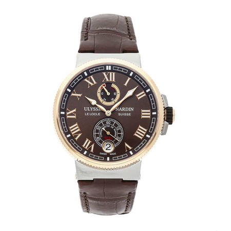 Ulysse Nardin Marine Chronometer 43mm 1185-126/45 18K Rose Gold/Stainless Steel Men's Watch